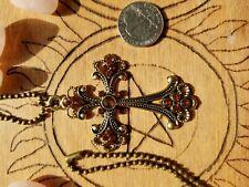 Gothic Cross Vampire Diaries Origionals Legacies Gothic Necklace Pendant Brass