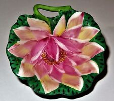 LIMOGES BOX - ROCHARD - PINK FLOWER & CUT OUT STEM - WATER LILY - MOTHER'S DAY