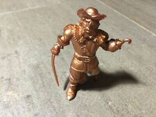 "1992 Captain Hook 4"" Gold Rubber Fantasy Figure for a Playset"