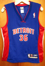 DETROIT PISTONS Rasheed Wallace basketball jersey Reebok youth lrg #36 sewn