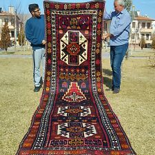 SUPERBE Masterpiece cr1920-1940s ANCIEN 109cm×467cm Kurde Tribal Couloir