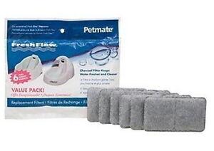 PetMate Fresh Flow Pet Dog Cat Water Fountain Replacement Charcoal Filter 6 pk.