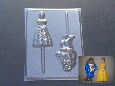 Belle Princess Beauty Beast Lollipop Chocolate Candy Soap Crayon Mold