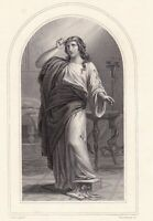 Portrait XIXe Sainte Marie de Magdala Madeleine Mary Magdalene 1857