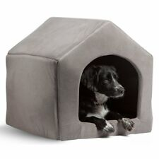 Pet Dog Cat Dome Bed Kitten Cave Cubby Cozy Baskets House Embossed Crate Kennel