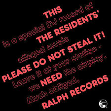 The Residents PLEASE DO NOT STEAL IT #298 RSD 2016 New White Colored Vinyl LP