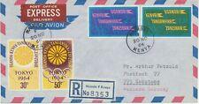 KENYA 1964 Olympic Games Tokyo set on superb Registered Express Delivery Airmail