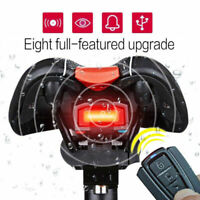 4 In 1 Bicycle Bike Security Lock Alarm LED Tail Light Anti-theft Remote Control