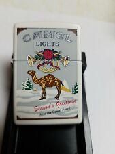 New ListingZippo Camel Seasons Greetings Lights White Matte Z242