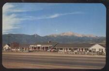 Postcard COLORADO SPRINGS CO  Mount Vernon Tourist Motel Motor Court 1950's