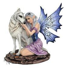 Nadine Fairy with Wolf Companion 17cm High Nemesis Now