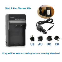 Battery Mains&Car Charger for Pentax Optio  I-10 I10 RZ10 WG-1 WG1 GPS X70