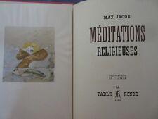 Max Jacob Méditations religieuses illustré par l'auteur 1945 1 /300 sur vélin