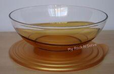 Tupperware  Eleganzia Sheerly Elegant Deluxe Acrylic Bowl 1.5 L Gold Color  New