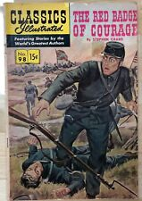 CLASSICS ILLUSTRATED #98 The Red Badge of Courage by S Crane (HRN 167) 1952 VG+