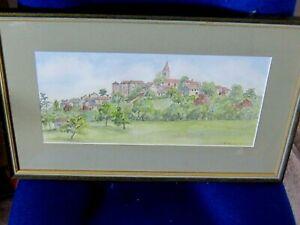 Original Watercolour of Salvagnac France by Caryl Burns Begg