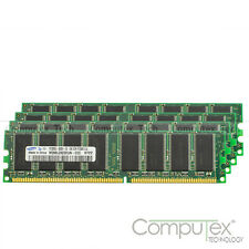 Samsung 4x 1GB PC3200 DDR400 184PIN Low Density Desktop Memory Unbuffered RAM