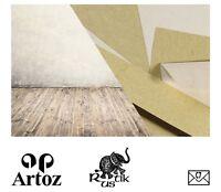 50 Artoz Papier AntiquA Kuverts quadratisch 160mm 90g Farben Briefumschläge