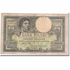 [#122376] Banknot, Polska, 500 Zlotych, 1919, 1919-02-28, KM:58, VF(30-35)