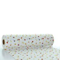 Tischläufer Betty in Weiß aus Linclass® Airlaid 40 cm x 24 m - Streublumen