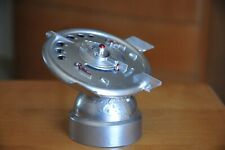 "1956 DURO MOLD VINTAGE ""SILVER"" FLYING SAUCER METAL BANK WITH ORIGINAL KEY RARE!"
