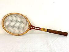 Bjorn Borg Bancroft Wood Tennis Racquet Racket Leather Grip 4 1/2 L Pre-owned