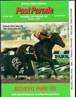 CIGAR IN 1995 JOCKEY CLUB GOLD CUP BELMONT PARK HORSE RACING PROGRAM!