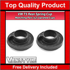 VW TRANSPORTER T5 UPRATED REAR LOWER RUBBER SPRING SEAT CUP MOUNT CARAVELLE PAIR
