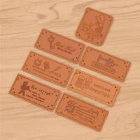 50 Pcs Handmade PU Leather Labels Tags for DIY Jean Bag Shoes Sewing Accessories