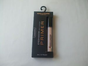 Max & More Eyeshadow Primer Transparent 3ml New