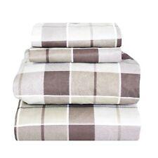 Beautiful Bedding Super Soft Comfort Floral 6 pcs Sheet Set Brown Plaid