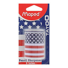 Maped Tatoo EE. UU. bandera 2 Agujero Madera Color Sacapuntas