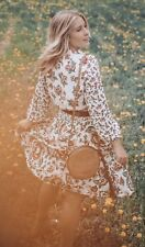 NEW ANTHROPOLOGIE FARM RIO Sz XL ANABELA SMOCKED FLORAL PRINT LONG SLEEVE DRESS