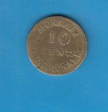 10 Centimes Siège d' Anvers Louis XVIII 1814 Frappe médaille en laiton Très RARE