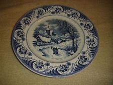 Vintage Maestricht Societe Ceramique Blue & White Plate-Landschap-Holland Made