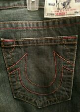 Men true religion jeans size 44 NWT ret $264 straight brown & red basic
