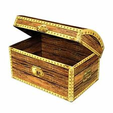 Medium Treasure Chest Cardboard Box - 20 cm - Pirate Theme Party Decorations