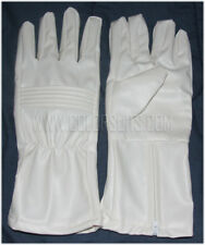Power Ranger Super Hero White Synthetic Leather Gloves Costume Cosplay