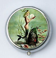 Mermaid PILL CASE pillbox pill holder nude under water retro pin up pinup