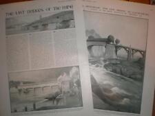 Article last of the old Rhine Bridges Germany 1912