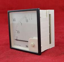 MeW Amperemeter 0-1,5 kA - 0 - 3 kA Amperemeter 96x96mm  analog Einbaumessgerät