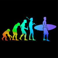 Longboard Surfing Human Evolution Car Window Laptop Door Vinyl Decal Sticker
