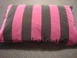 """IKEA NATVIDE Cushion (Cover w/ Insert) Black Plum? Cotton Velvet pillow 16x24"""""""