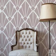 Kunst Deko Vintage Schablone Geometrische Retro Muster Heim Tapete Dekoration
