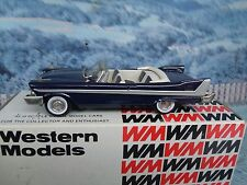 1/43 Western models  1958 PLYMOUTH BELVEDERE white metal #WMS51