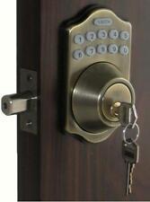 Digital Keyless Electronic Door Lock Deadbolt AB Touchpad Code Remote CAPABLE