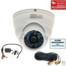 Audio Security Camera with Sony Ccd 600Tvl Ir Day Night Outdoor Wide Angle me9