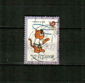 ECUADOR Scott's 1194 ( 1v ) Summer Olympics, Tae Kwon Do F/VF Used ( 1989 )