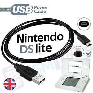 For Nintendo DS Lite NDSL DSL USB Plug Charging Power Charger Cable Lead Wire UK