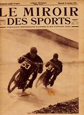 LE MIROIR DES SPORTS No. 227 DU 15 OCTOBRE 1924 - MONTLHÉRY MOTOCYCLISTES